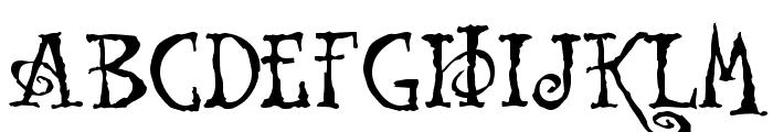 Tuscarora Font UPPERCASE