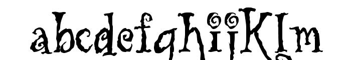 Tuscarora Font LOWERCASE