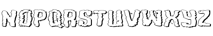 Tussle Expanded Outline Font LOWERCASE