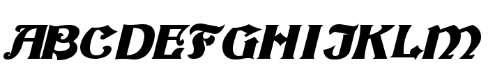 Tutbury Bold Italic Font UPPERCASE