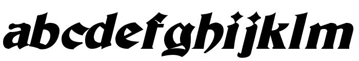 Tutbury Bold Italic Font LOWERCASE