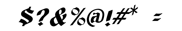 Tutbury Italic Font OTHER CHARS