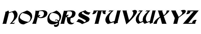 Tutbury Italic Font UPPERCASE