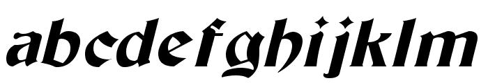 Tutbury Italic Font LOWERCASE