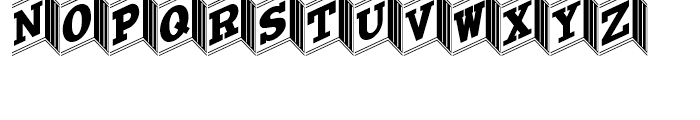 Tumbling Dice NF Regular Font UPPERCASE
