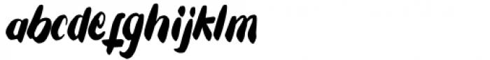 Tuesday Spirit Regular Font LOWERCASE