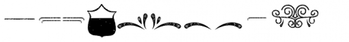 Tulipan Rough Ornaments Font OTHER CHARS