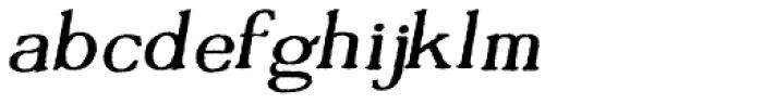 Tumbletype No 1 Font LOWERCASE