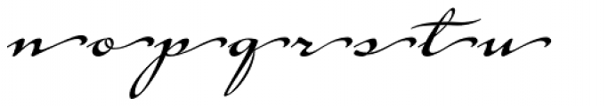 Tupelo Endings Font LOWERCASE