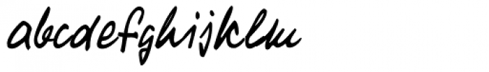 Turandot Handwriting Font LOWERCASE
