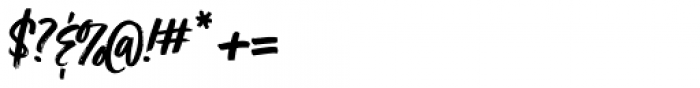Turbinado Bold Pro Font OTHER CHARS