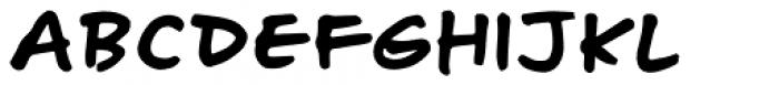 Turbinado Hand Pro Font LOWERCASE