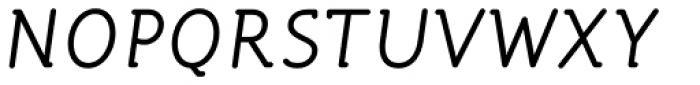 Turbota Book Italic Font UPPERCASE