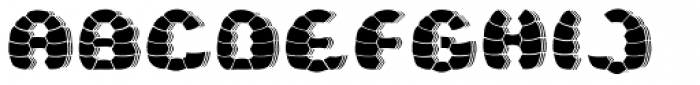 Turtle Black Shadow Font UPPERCASE