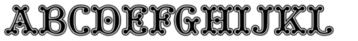 Tuskcandy Inline Font UPPERCASE