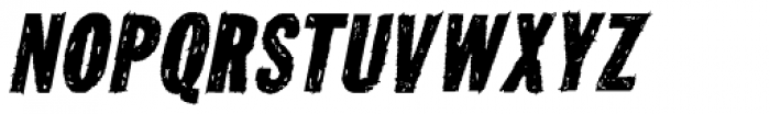 Tuzonie Italic Font UPPERCASE