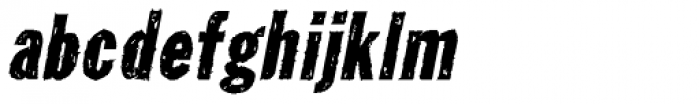 Tuzonie Italic Font LOWERCASE