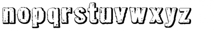 Tuzonie Neg Expanded Font LOWERCASE