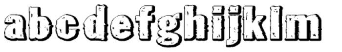 Tuzonie Neg Ult Expd Font LOWERCASE