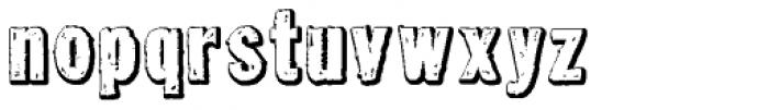 Tuzonie Negative Font LOWERCASE