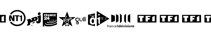 TV FRANCE Font UPPERCASE