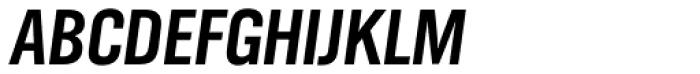 TV Nord EF Cond Bold Oblique Font UPPERCASE