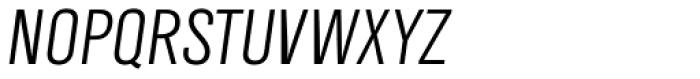 TV Nord EF Cond Light Oblique Font UPPERCASE
