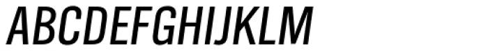TV Nord EF Cond Oblique Font UPPERCASE