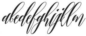 Twetter otf (400) Font LOWERCASE
