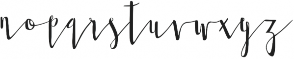 Twisted Willow otf (400) Font LOWERCASE
