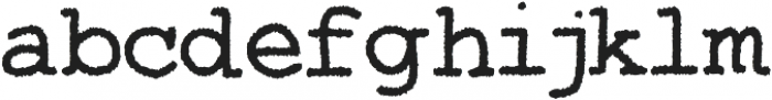 Two Fingers Courier Rough otf (400) Font LOWERCASE