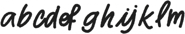 Two Fingers Script Rough otf (400) Font LOWERCASE