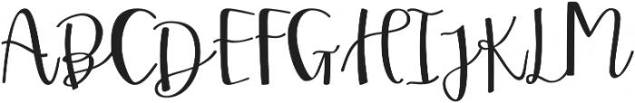 Two Sisters Script Regular otf (400) Font UPPERCASE