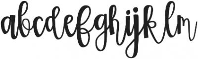 Two Sisters Script Regular otf (400) Font LOWERCASE