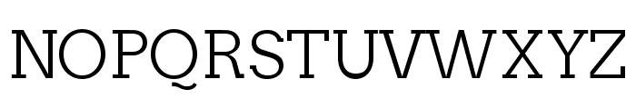 Twentytwelve Slab Light Font UPPERCASE