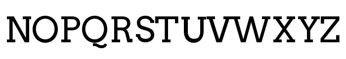 Twentytwelve Slab Regular Font UPPERCASE
