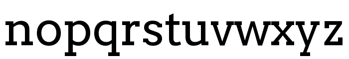 Twentytwelve Slab Regular Font LOWERCASE