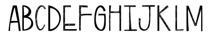 TwiggyPopScratch Font UPPERCASE