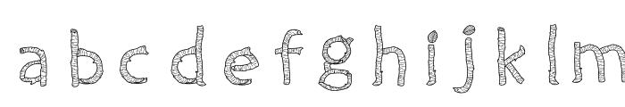 Twiggy Font LOWERCASE