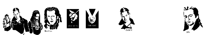 Twilight Breaking Dawn Font OTHER CHARS
