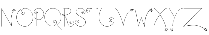 Twinkle-Fairy Font UPPERCASE