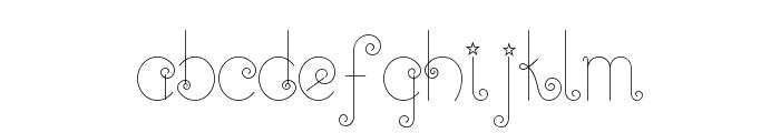 Twinkle-Fairy Font LOWERCASE