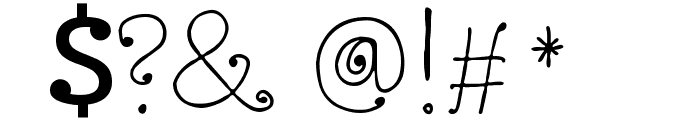 Twisted Circles Regular Font OTHER CHARS