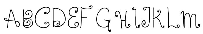 Twisted Circles Regular Font UPPERCASE