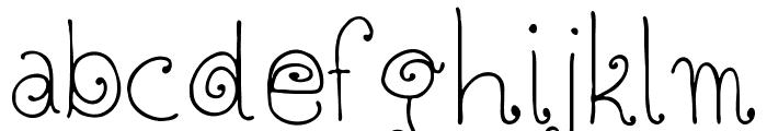 Twisted Circles Regular Font LOWERCASE