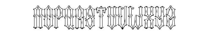 Two Fingers King Font UPPERCASE