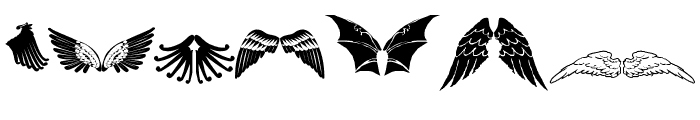 Two Wingy Dingy Font UPPERCASE