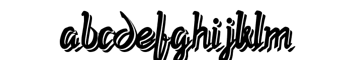 Twopath Shadow Font LOWERCASE