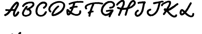 Two Fingers Script Rough Font UPPERCASE