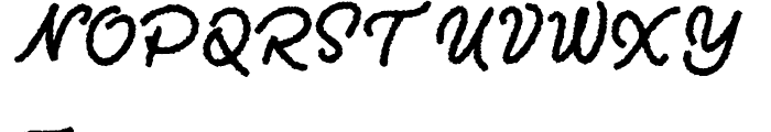 Two Fingers Script SuperRough Font UPPERCASE